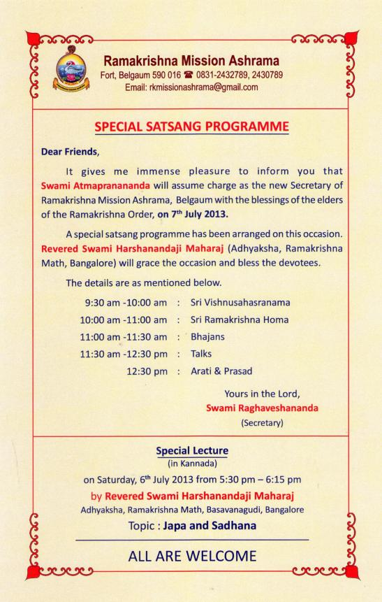 Special Satsang Programme