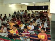 Chanting and prayer during the concluding session of the Vasanta Vihara 2014