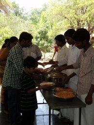 Prasada distribution after the concluding programme