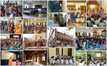 1-Blanket Distribution  2-Free Coaching Centre  3-Weekly Eye Camp  4-Scholarships  5-Dravya Yagna  6-Japa Yagna  7-Annual Celebrations  8-Renovation  9-Vivekananda Balaka Sangha