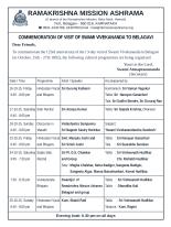 Cultural Programme - Swamijis Visit